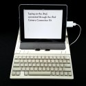 Keyboard shield for Apple IIc or IIc+