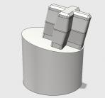 Apple II Keyboard – ALPS Short Stem 12° Adapter